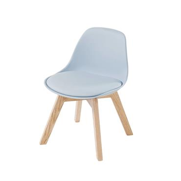 Chaise style scandinave enfant bleue et chêne Ice
