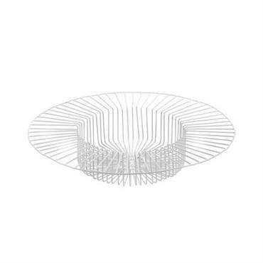 Corbeille Paglieta / Ø 45 x H 8 cm - Serax blanc