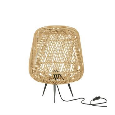 Lampe à poser en bambou naturel