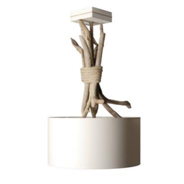 Suspension luminaire en bois flotté