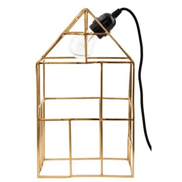 Avec poésie et humour, House Doctor nous présente cette lampe à poser. Objet dessiné par ses uniques arrêtes, maison, cage, structure et pour finir lampe, elle est destinée à recevoir ...