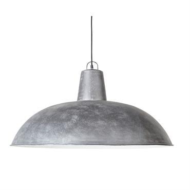 Suspension en métal gris effet vieilli