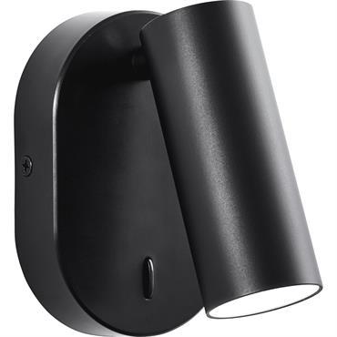 Spot LED orientable avec interrupteur métal L18cm