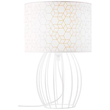 Lampe en bois blanc