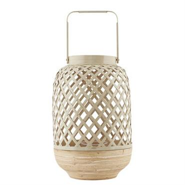 Photophore Breeze Large / Bambou - Ø 20 x H 30 cm