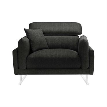 Fauteuil 1 place toucher lin anthracite