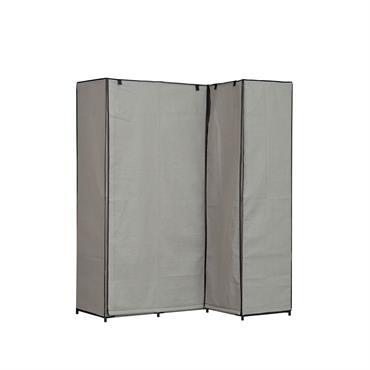 Caractéristiques produit:Découvrez notre dressing souple d'angle en tissus idéal pour votre chambre à coucher ou buanderie, doté de deux barres de penderie pour cintres et de plusieurs étagères vous permettant ...