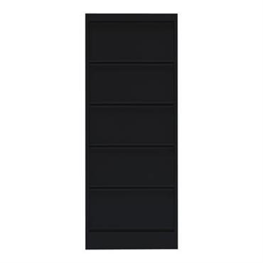 Rangement Classeur à clapets CC5 / 5 clapets - Tolix noir en métal