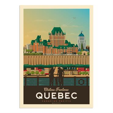 Affiche Québec  30x40 cm
