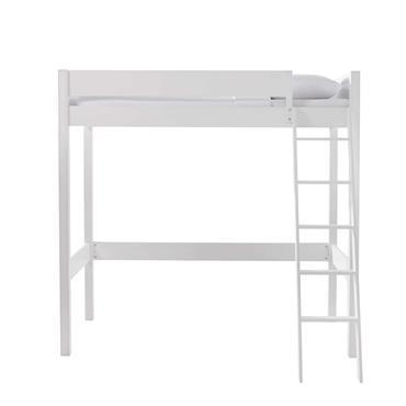 Lit mezzanine 90x190 blanc Newport