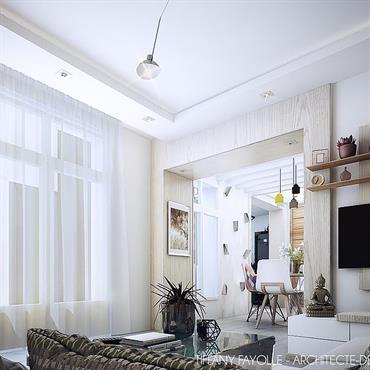 Les clients, vivant à Paris, ont fait appel à mes services en tant qu'architecte d'intérieur et décorateur de Lyon pour ... Domozoom