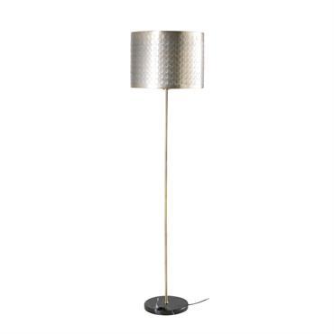 Lampadaire en marbre noir et métal doré H135
