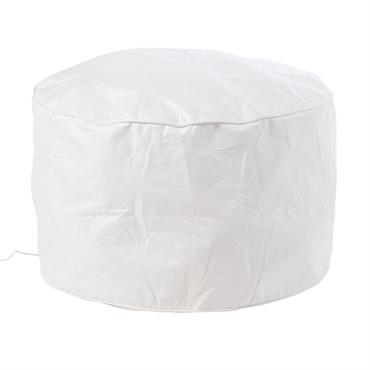 Pouf gonflable lumineux blanc