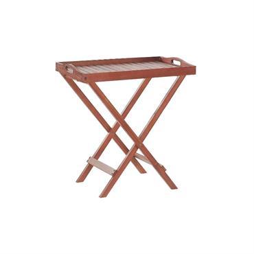 Table bistrot de jardin en bois d'acacia foncé . Cette table compacte est un excellent ajout à chaque terrasse ou jardin. Fabriquée en bois d'acacia massif, elle est durable et ...