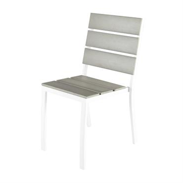 Chaise de jardin en aluminium et composite Escale