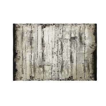Tapis en coton imitation bois 160x230