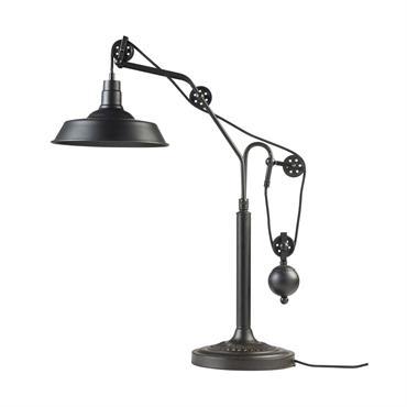 Lampe indus en métal noir