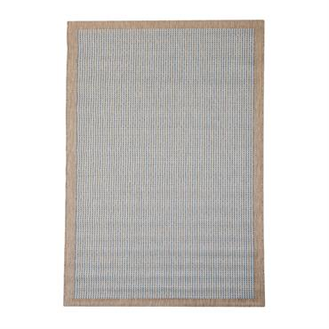 Tapis uni contemporaine en polypropylène bleu 135x190