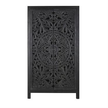 En voilà un meuble artisanal qui ne manque pas d'atouts ! Le dressing 2 portes sculptées en manguier massif noir bleuté KERALA sublimera à merveille votre chambre. Entre ses deux ...