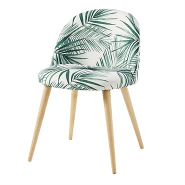 Star incontournable chez Maisons du Monde, la chaise imprimé feuilles de palmier et bouleau massif MAURICETTE a décidé de jouer la carte de l'exotisme. Idéale pour dynamiser votre coin repas, ...