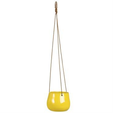 Cache-pot en céramique jaune H12