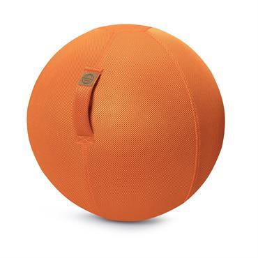 Balle d'assise gonflable enveloppe tissu mesh orange