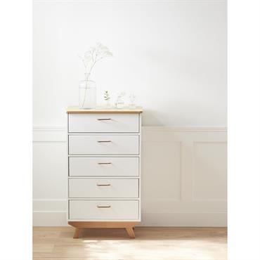 Commode semainier BILBOQUET DÉCO blanc