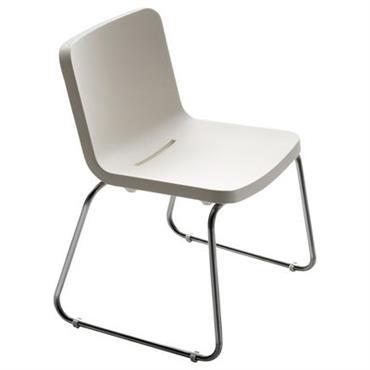 Chaise Serralunga design Blanc en Métal. Dimensions : H 80 x prof 59 x l 58 cm - H assise 46 cm. La collection Time Out de Rodolpho Dordoni est ...