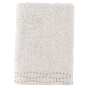Le drap de douche brodé Botany est composé à 60% de coton et à 40% de viscose de bambou (600 g/m²) ce qui la rend douce et moelleuse. Une éponge ...