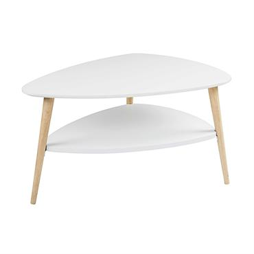 Table basse style scandinave blanche Spring