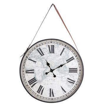 Horloge en métal noir 75x115