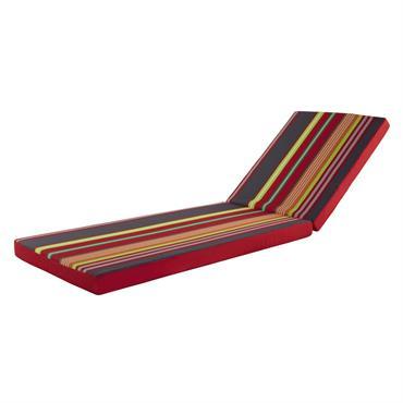 Installez-vous confortablement sur votre bain de soleil avec le matelas MAMOUNIA en tissu rayé multicolore. Idéal pour la saison estivale, ce matelas très coloré égayera votre mobilier de jardin tout ...