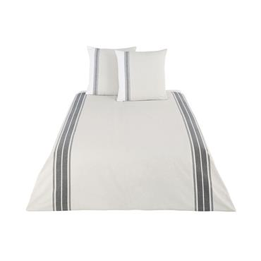 Parure de lit en coton tissé beige