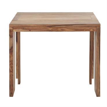 Table console extensible en sheesham massif 2/6 personnes L40/160 Stockholm