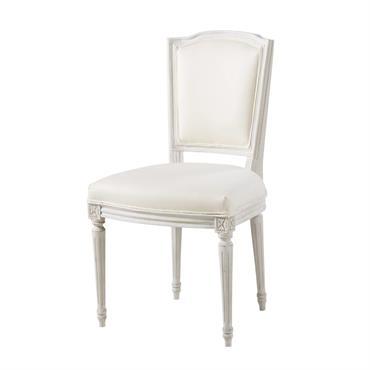 Chaise en coton ivoire et chêne massif Isadora