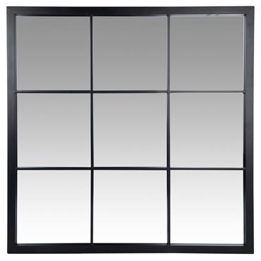 Miroir en métal noir 60x60