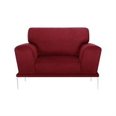 Fauteuil 1 place toucher coton rouge glamour