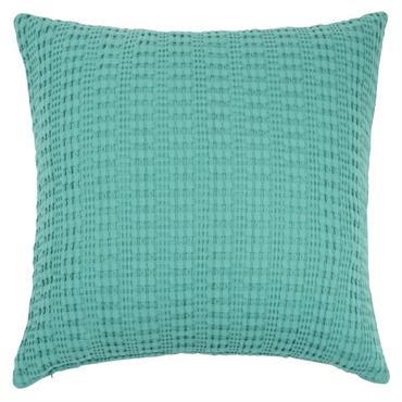 Coussin en coton bleu 60x60