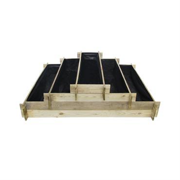 Potager pyramide en pin traité