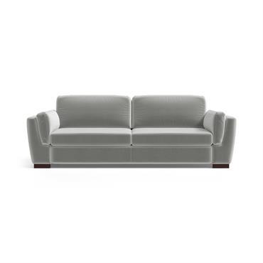 Canapé 3 places en velours gris clair