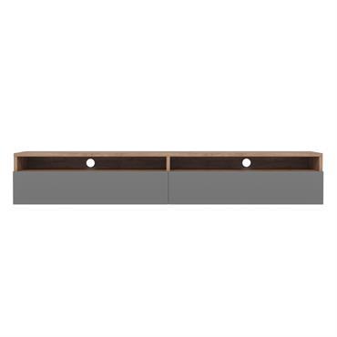 Rednaw est un meuble tv contemporain qui donnera une touche moderne à votre intérieur. Équipé de deux niches ouvertes et de deux compartiments fermés, ce meuble aux lignes minimalistes contiendra ...
