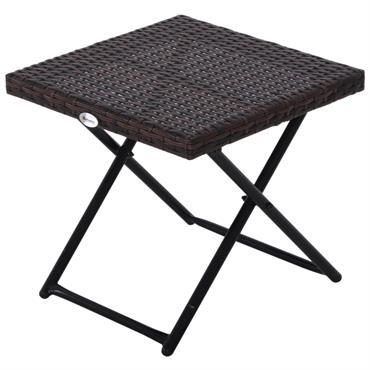 Apportez une touche d'élégance à votre intérieur ou extérieur avec cette superbe table basse pliable. En résine tressée imitation rotin style cosy chic, cette table s'intégrera dans tous les environnements. ...