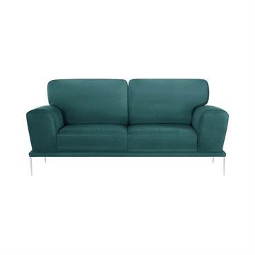 Canapé 2 places toucher coton turquoise