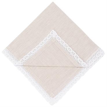 Serviettes en coton blanc 40x40