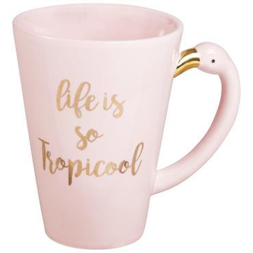 Mug flamant rose en porcelaine