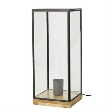 Lampe rectangulaire en verre