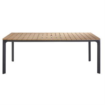 Table de jardin 6/8 personnes en composite et aluminium L200 Fuji