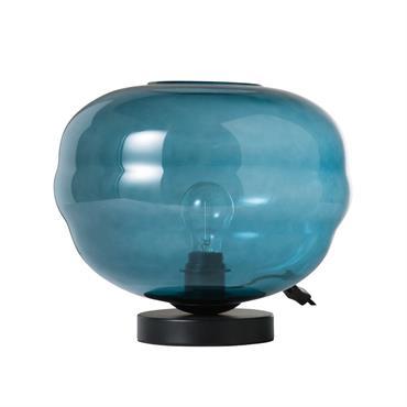 Lampe en verre teinté bleu