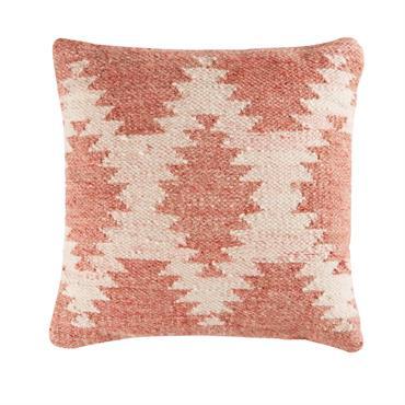 Coussin en laine et coton motifs jacquard 45x45