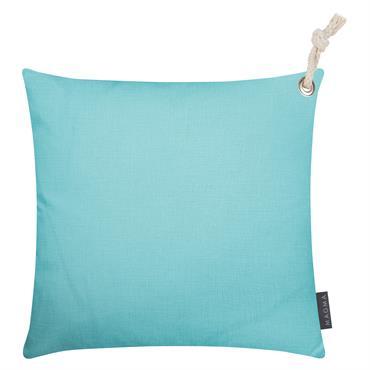 Housses de coussin outdoor avec corde turquoise- Lot de 2 - 40x40